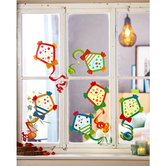 Sachenmacher Fensterbilder Drachen 6 Stück