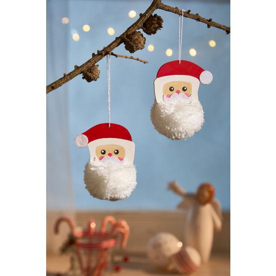 Sachenmacher Pompon Weihnachtsmann 12 Stück